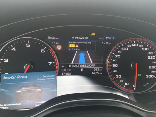 Active Lane Assist im Tacho - Audi A6