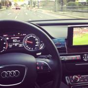 Fussball im Auto mit DVBT-2